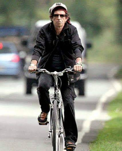 Keef on a bike!