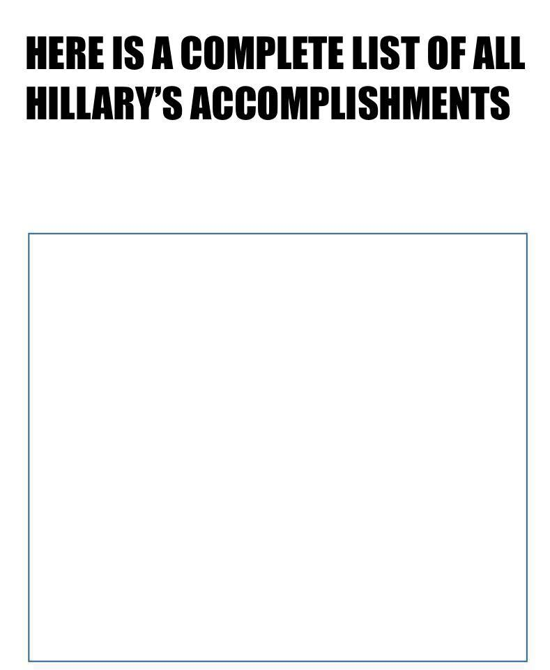 hillary accomplishments