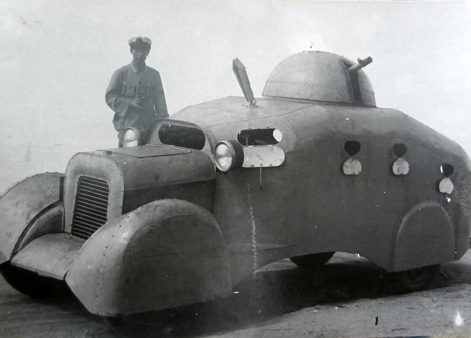 Chinese Armored Car from the Second Sino-Japanese War (1937-1945)