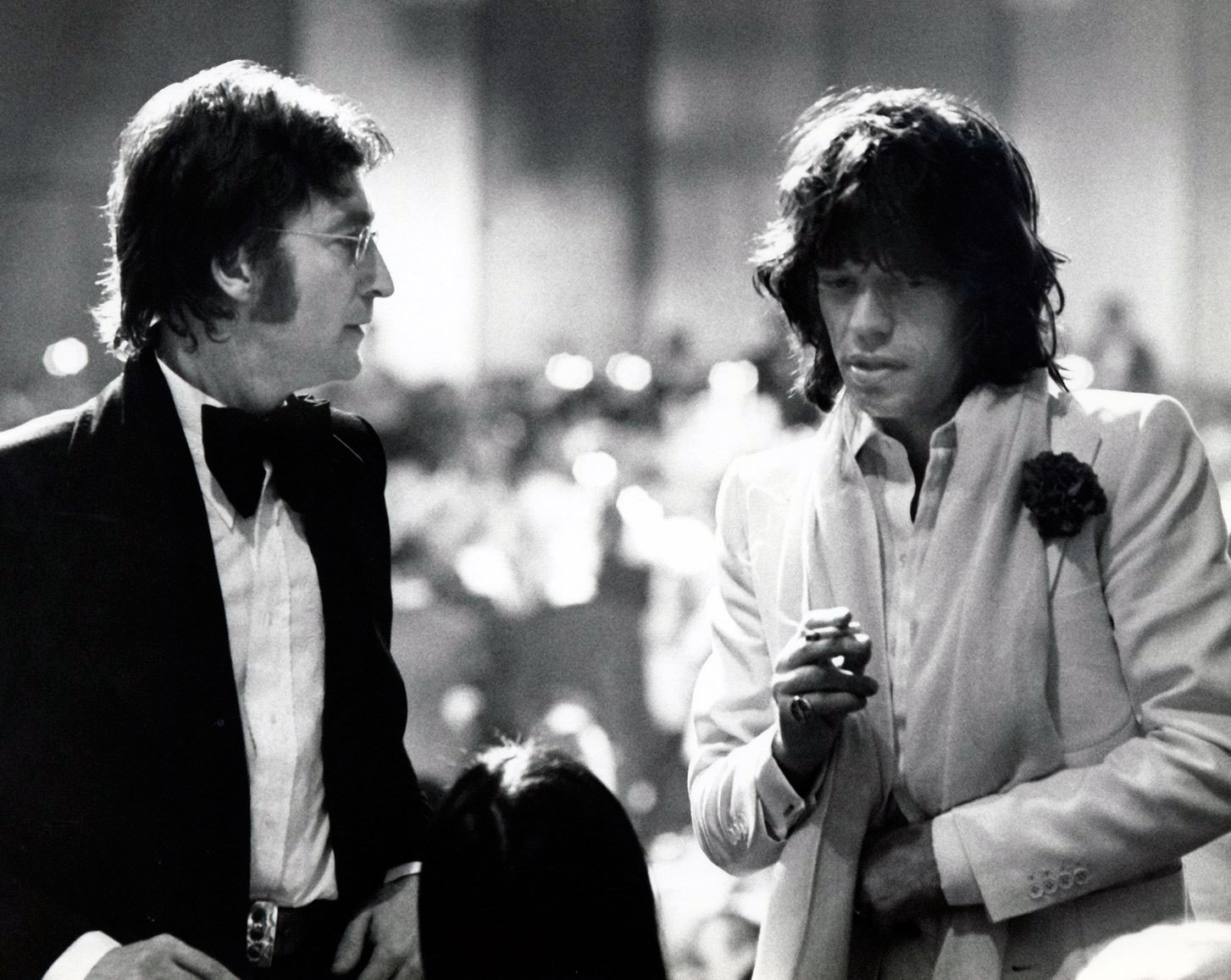 Lennon and Jagger in 1974 or '75