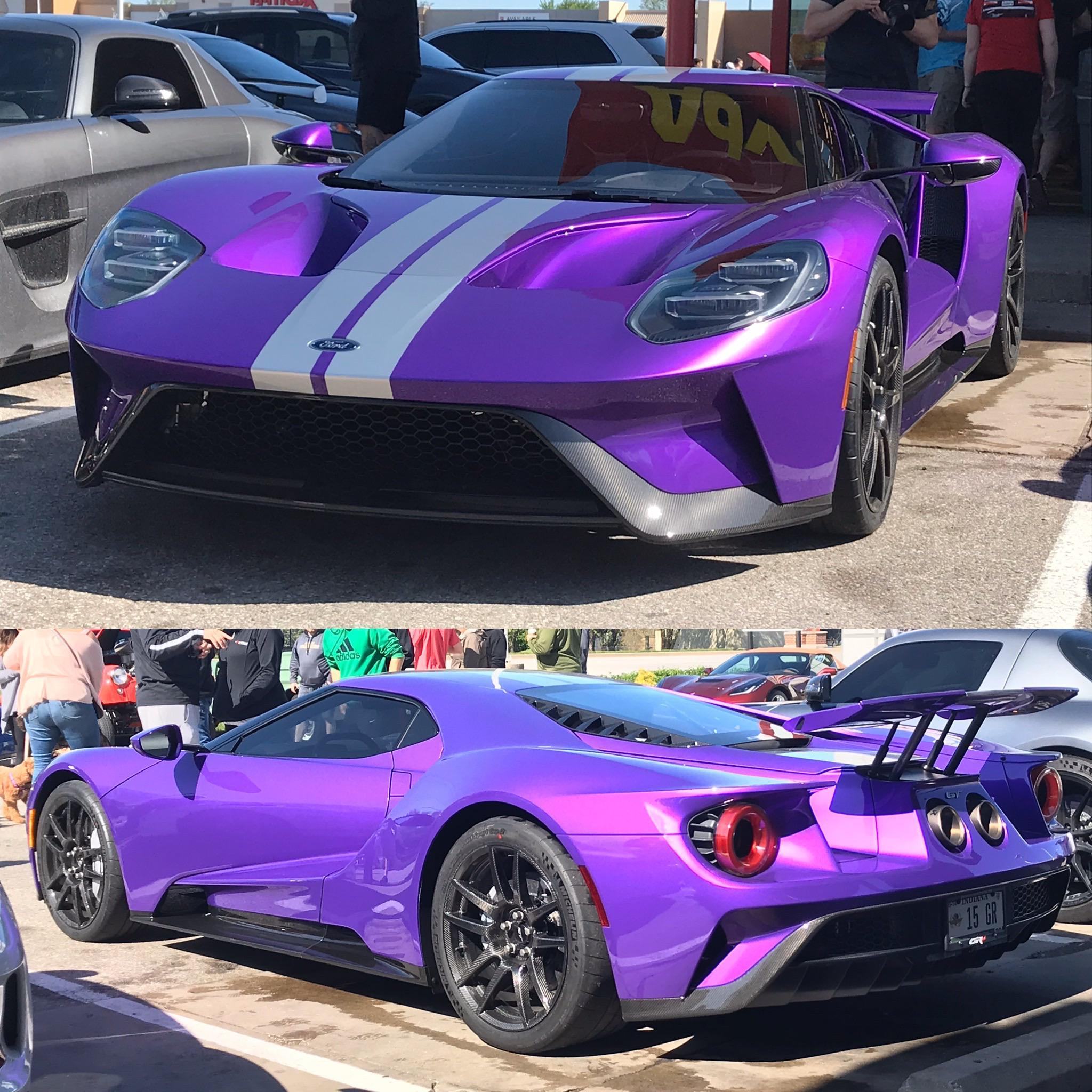 Purple Ford GT