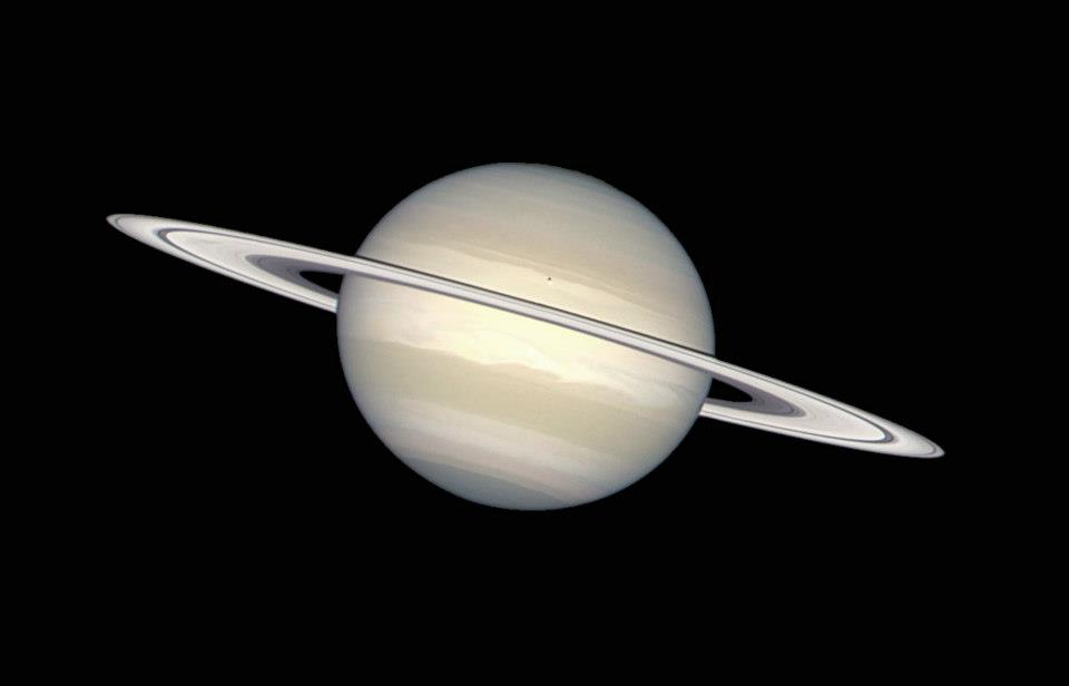 Saturn In Natural Colours.