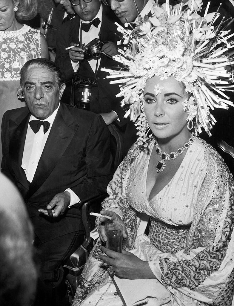Liz Taylor And Aristotle Onassis In Venice, September 1967 - Ph. Keystone-France