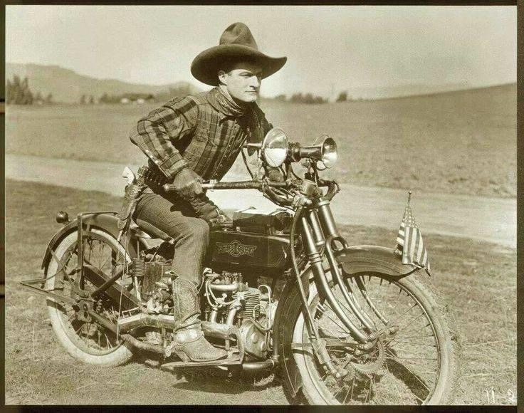 Tom Mix on a 1917 Henderson