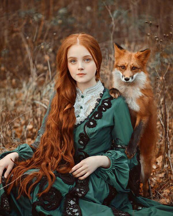 woman with fox