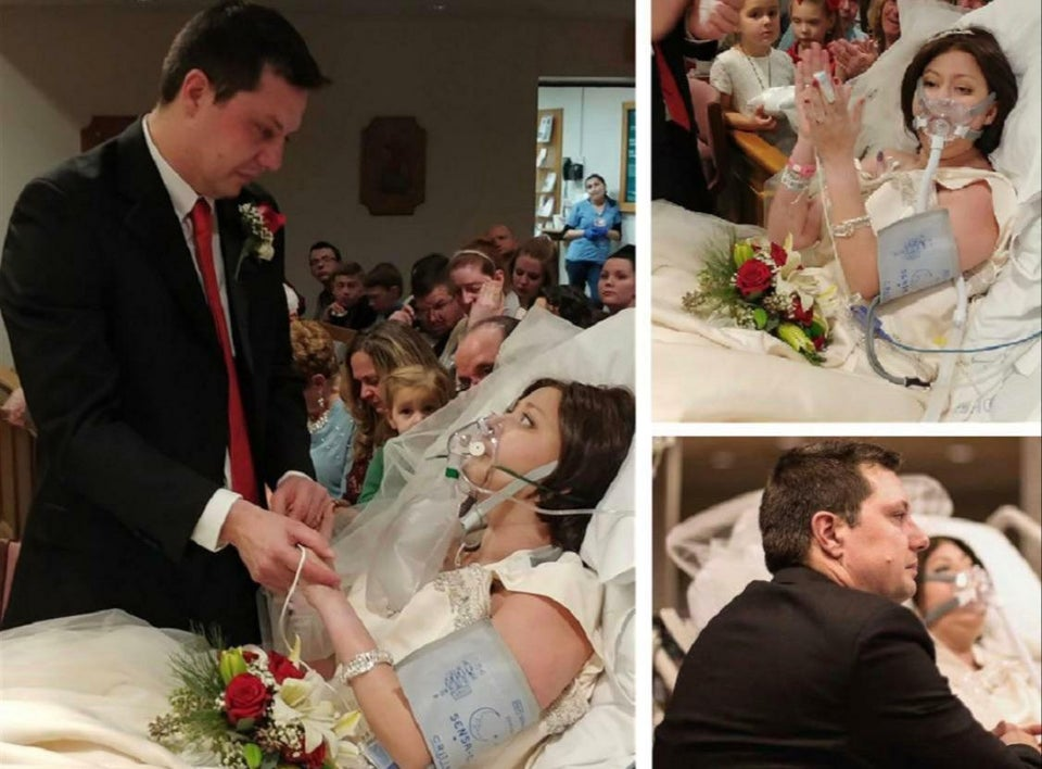 Woman got married in a hospital just hours before passing away to cancer
