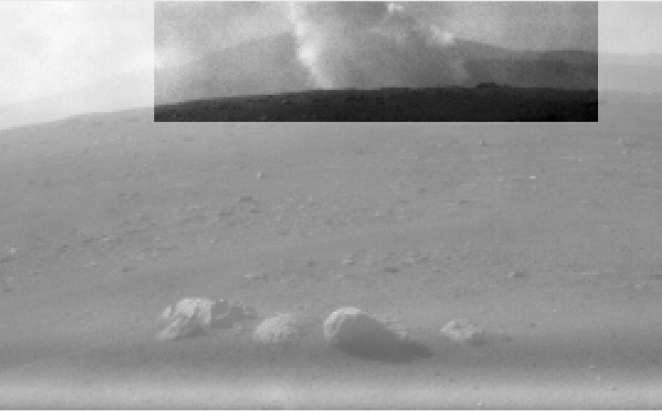 Smoke Plume from Perseverance's Descent Stage: HazCam image from Sol 0 (February 18)