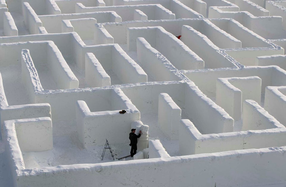 The world's largest snow maze
