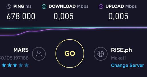 Speedtest from Perseverance.