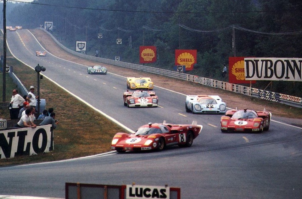 Ferrari vs Porsche at Le Mans in 1970