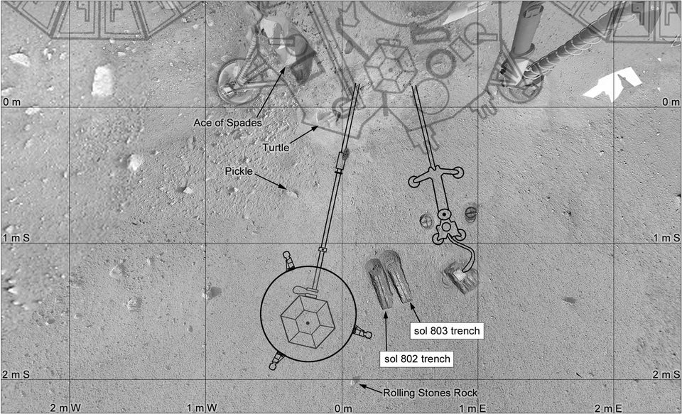 InSight's workspace mapped with images from the lander by Phil Stooke.