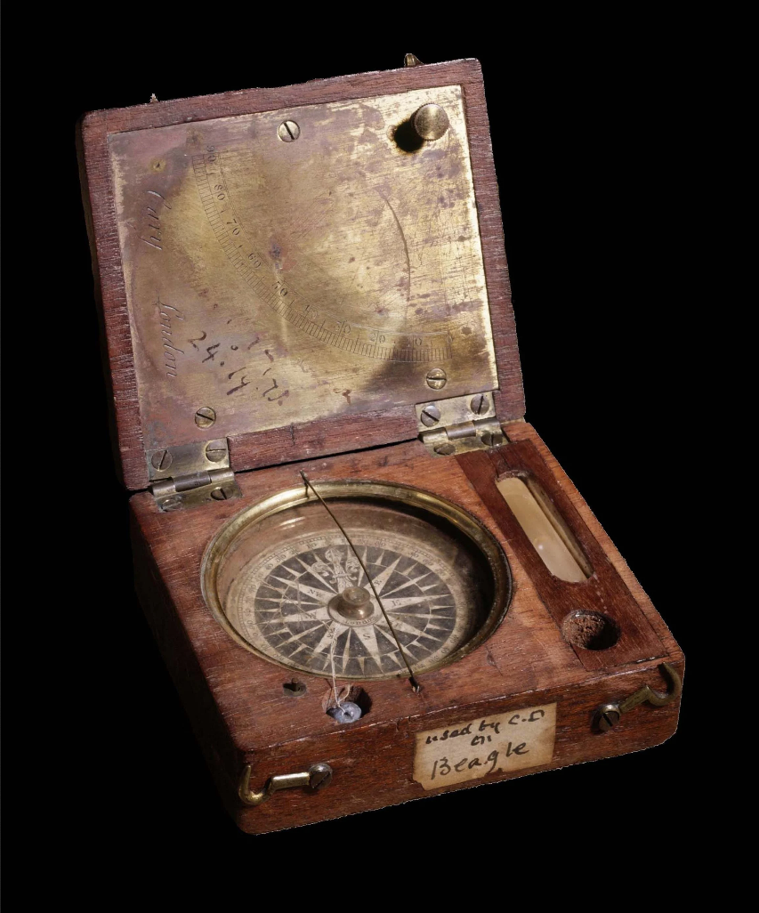 pocket compass and clinometer was specially made for Charles Darwin