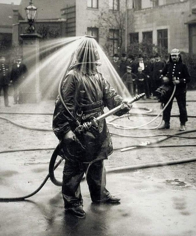 Early 1900's fireman suit