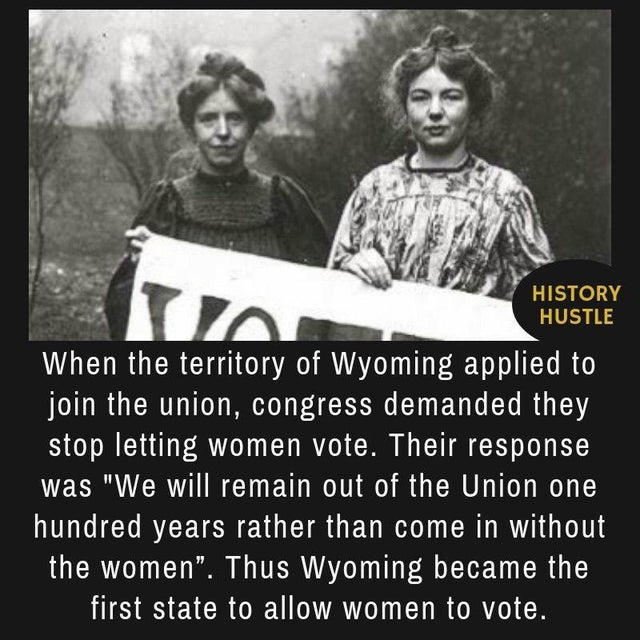 WY 1st state for women voters